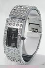 Montre femme acier et strass watch uhr
